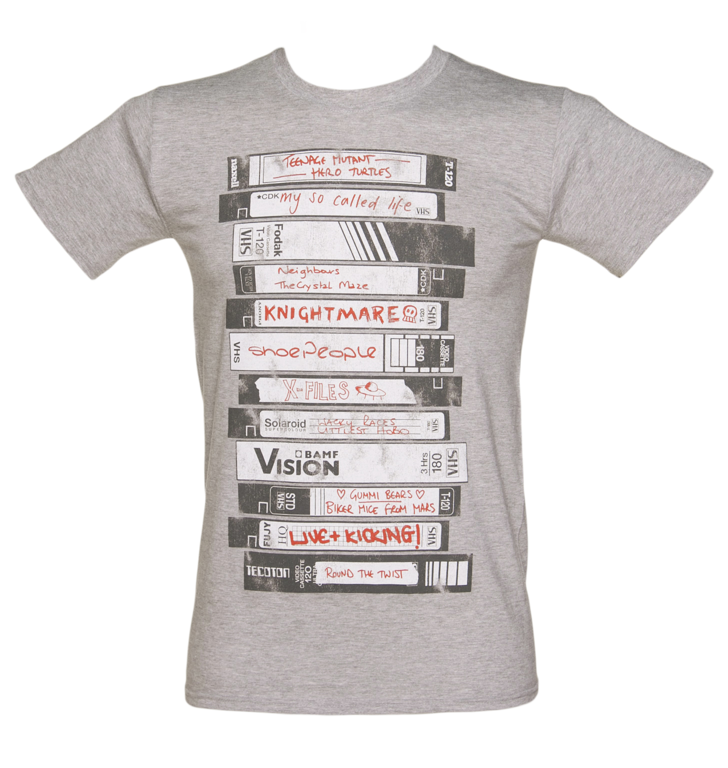 TruffleShuffle Mens Old School Video Tapes Collection T-Shirt product image