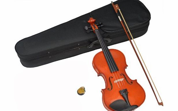 Childrens 3/4-Size Violin Set for Ages 10 - 11 Years Including Case, Rosin and Bow (Maple Wood)