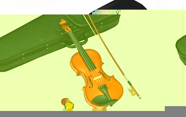 Childrens Violin 1/8-Sized for Ages 4 - 6 Years in Set with Shaped Case, Rosin and Horsehair Bow (Maple)