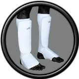 Turner Sports Elasticated Shin instep pad leg and foot protector Martial Arts Kick Boxing Medium