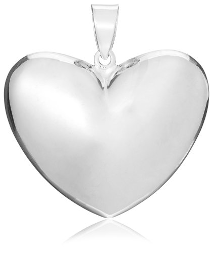 Tuscany Silver Large Puffed Heart Pendant