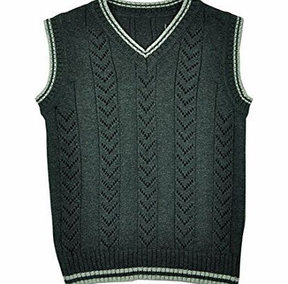Tuzama Kids Boys Vest Sweater Knitting Pattern V Neck Waistcoat Black 5-6 yea...
