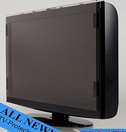 TV-Protector 51 52 inch TV-ProtectorTM Stylish Design Clear Anti UV TV Screen Protector LCD LED Plasma HDTV Wii Child Proof Safe