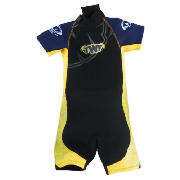 TWF Wetsuit Shortie Kids age 3/4 Yellow