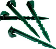 Ubbink Weed Control Plastic Fabric Pegs x 10