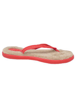 Fluffie Sandal (Shaggy) Lipstick Red/Lotus Brown