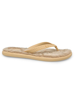 Fluffie Sandal (Shaggy) Sand/Lotus Brown