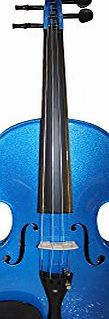 Violin in amazing metallic colours 4/4 Size Violin with Rosin, Bow amp; Padded Case Top Quality Craftsmanship (Metallic Blue)