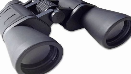 UKHobbyStore Serious user 10x50 binoculars with fully coated optics for all uses including birdwatching, astronomy, sports and wildlife. 10 x 50 high power magnification. Comes with case, lens caps, strap, cloth a product image