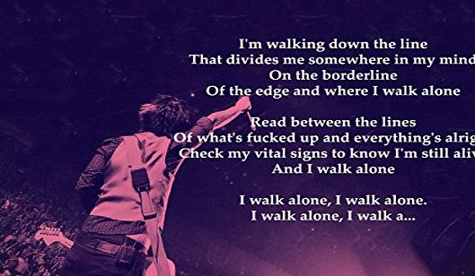 ula bear Green Day - Boulevard Of Broken Dreams - Lyrics - Great Rock Metal Album Cover Design Music Band Best Photo Picture Unique Print A4 Poster