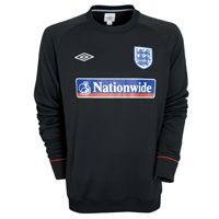Umbro England Training Sweatshirt 2010/11 - Black. product image
