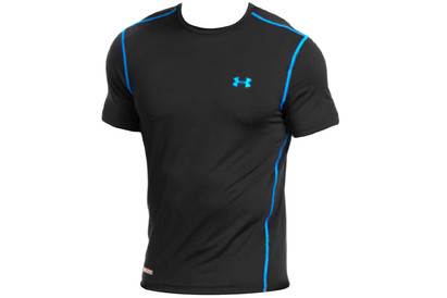 Under Armour Heat Gear Sonic S/S Fitted T-Shirt Black/Blue product image