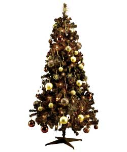 Unbranded 1.8m / 6ft Chocolate Tree with 75 Pcs Decorations