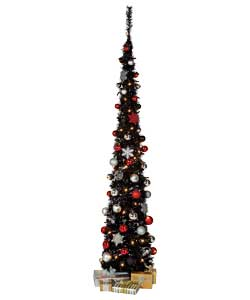 Unbranded 1.8m / 6ft Glam Dress Slim Pop Up Tree with Decorations