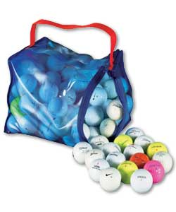 Contents may vary but may include Nike, Titleist, Callaway, Strata, Topflite. Large, durable golf