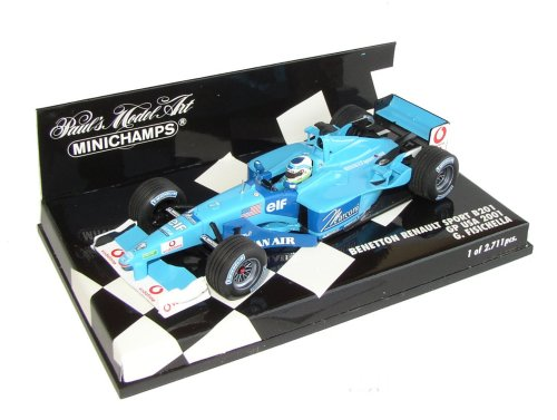 1:43 Scale Benetton Renault B201 USA GP 2001 - Ltd Ed 2-711 pcs - G.Fisichella
