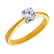 Unbranded 18CT GOLD 50PT DIAMOND SOLITAIRE RING, O