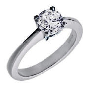 Unbranded 18CT WHITE GOLD 1CT DIAMOND SOLITAIRE RING, P
