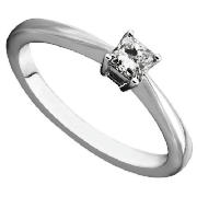 Unbranded 18CT WHITE GOLD 25PT PRINCESS CUT DIAMOND RING, M