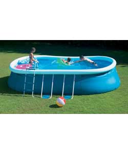 18ft oval quick pop up pool set outdoor toy review compare prices buy online. Black Bedroom Furniture Sets. Home Design Ideas