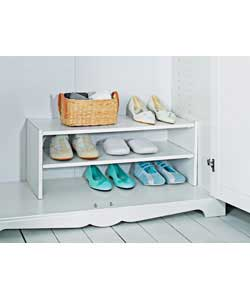 Internal wardrobe shoe rack