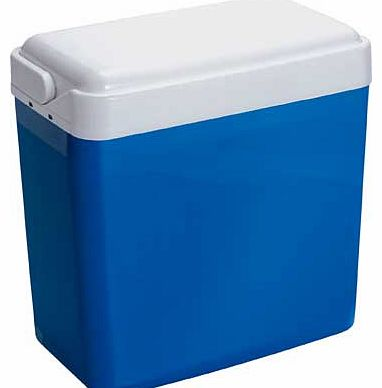 Keep your picnic essentials cool and fresh with this 24 litre cool box. With a handle for comfortable carrying. its ideal for days out. 24 litre capacity. Size: H40. W23. D38cm.