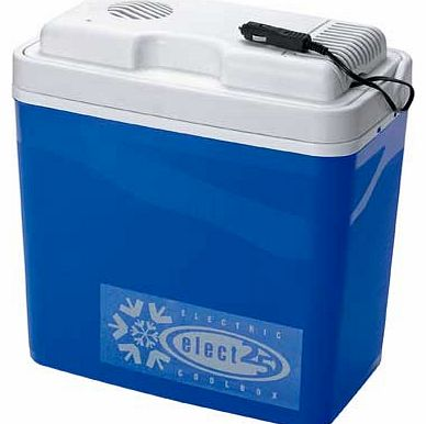Keep your picnic essentials cool and fresh with this 24 litre electric cool box. Simply plug it into the socket in your car to keep your food chilled. 24 litre capacity. Car socket compatible. Size: H40. W42. D23cm.