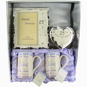 25th Silver Wedding Anniversary Gifts Pack 2 Anniversary Giftreview ...