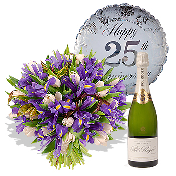 25th Wedding Anniversary Gift Set Flowers Review Compare Prices