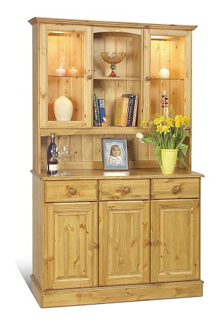 3 Door Glazed Top Dresser - Sherwood