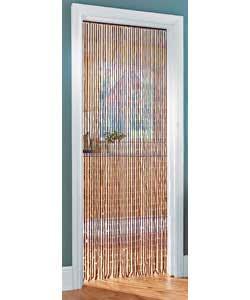 3ft Beaded Door Curtain Teak Colour Curtains And Blind