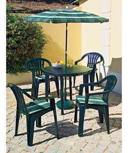 4 seater green resin patio set garden furniture review