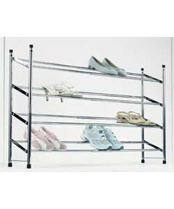 4-Tier Extendable Shoe Rack - Chrome product image