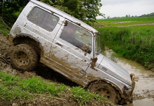 It's vehicle versus earth with this challenging mixture of natural and man-made obstacles
