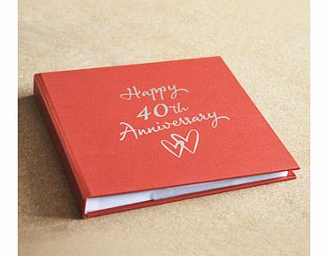 This 40th Wedding Anniversary 7 5 Photo Album is the perfect gift ...