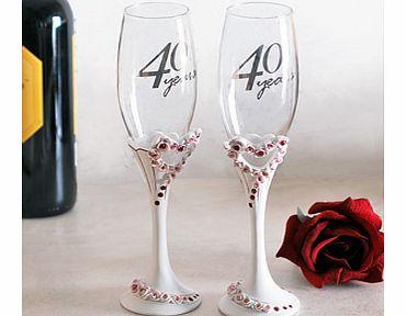 Ruby Wedding Gift Ideas John Lewis : 40th wedding anniversary heart pair champagne 25th wedding anniversary ...