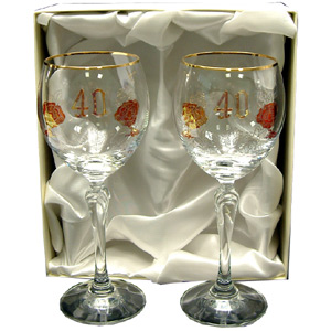 Th Wedding Anniversary Glasses