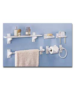 6 piece white wood bathroom set bathroom accessorie review compare prices buy online