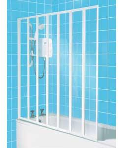 7 Fold White Framed Shower Screen Review Compare Prices Buy Online