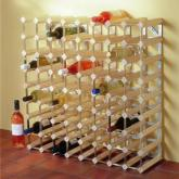 Serious wine lovers will appreciate the traditional wood and steel construction of this system that