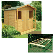 Unbranded 7x7 wooden chalet with base