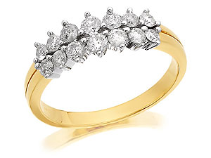 Unbranded 9ct-Gold-Diamond-Half-Eternity-Ring--0.75ct-048042