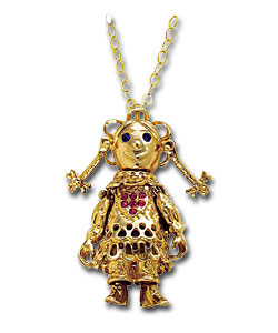 9ct gold movable large ragdoll pendant gold jewellery