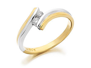 9ct Two Colour Gold Diamond Ring 045905-O product image