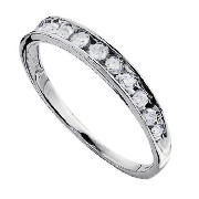 Unbranded 9CT WHITE GOLD 25PT DIAMOND ETERNITY RING, J