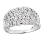 Unbranded 9ct white gold 35point diamond ring O