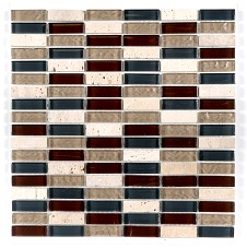 A sheet Rustic mosaic ideal for Bathroom Kitchen