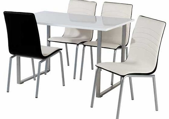 dining chair seat pads : unbranded albury dining table with 4 leather effect chairs from www.comparestoreprices.co.uk size 559 x 395 jpeg 25kB