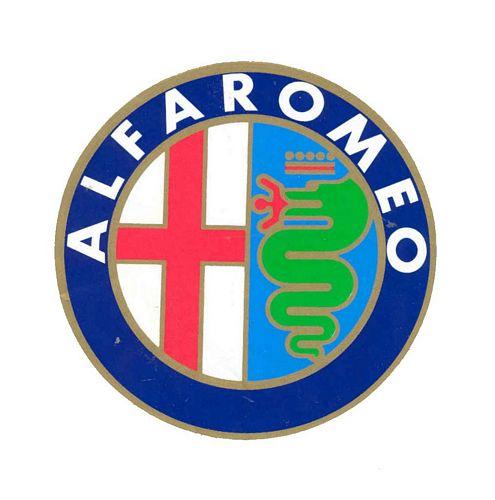 Alfa Romeo Logo Sticker (5cm radius) Motorsport Gift ...