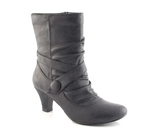 Unbranded Ankle Boot With Strap Trim